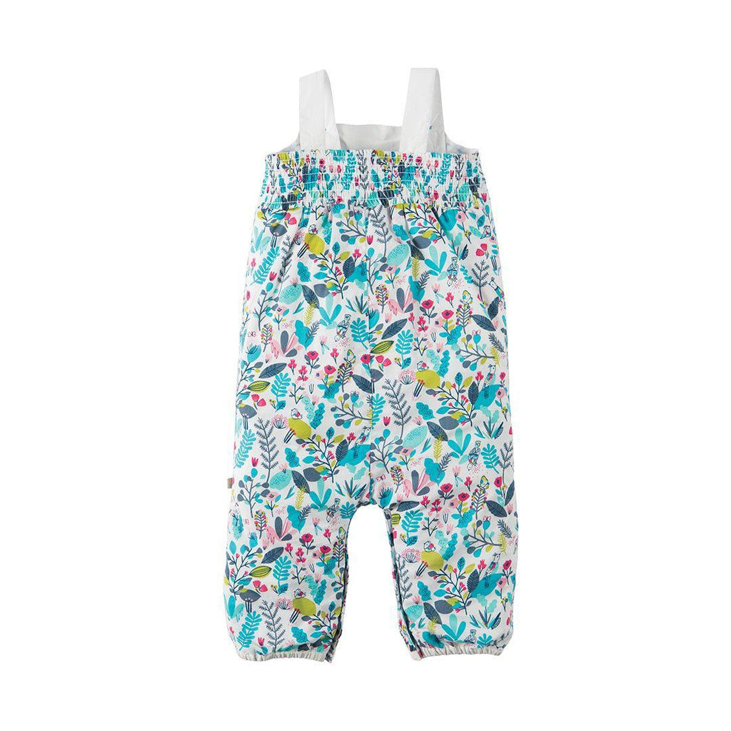 Frugi Springtime Dungaree - Birdy Paradise-Rompers- Natural Baby Shower