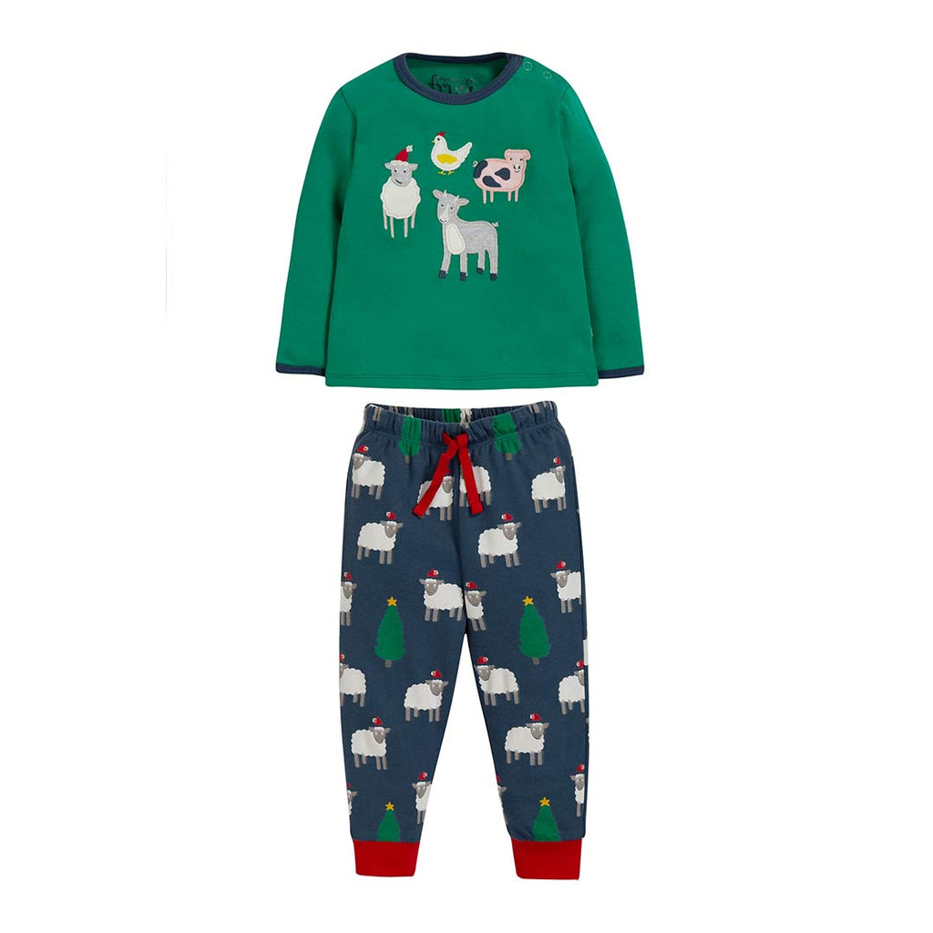 Frugi Stargaze PJ's - Jade/Festive Farm-Pyjamas- Natural Baby Shower