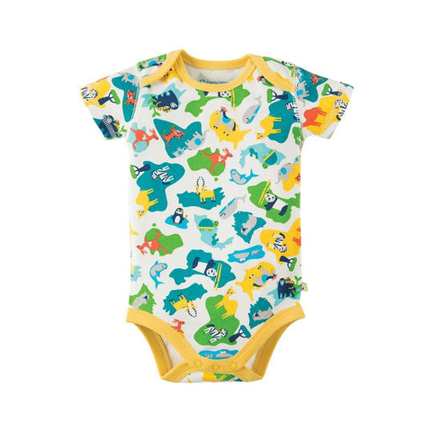 Frugi Super Special Bodies - Map - 3 Pack 4