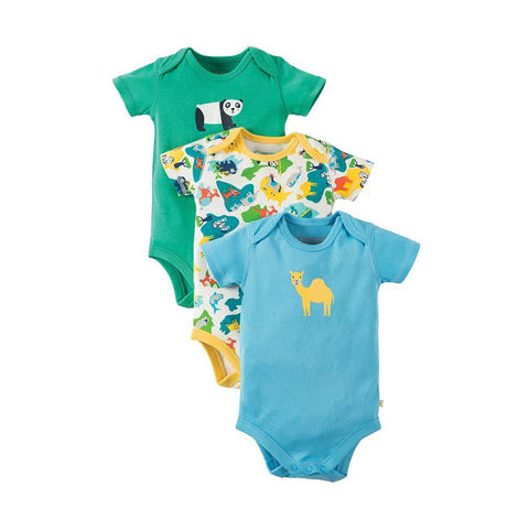 Frugi Super Special Bodies - Map - 3 Pack