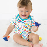 Frugi Super Special Bodies - Otter - 3 Pack Lifestyle