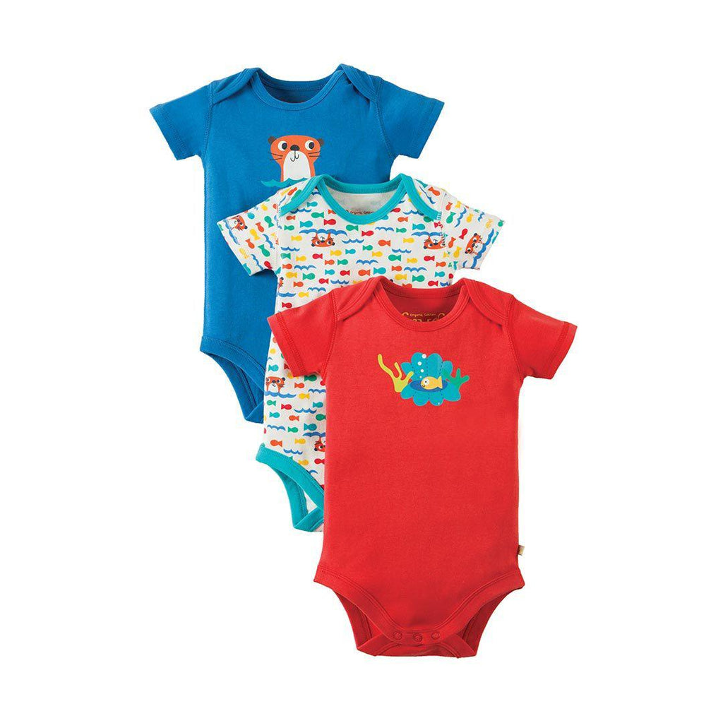 Frugi Super Special Bodies - Otter - 3 Pack