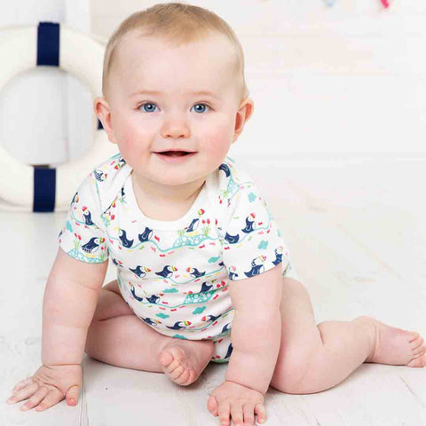 Frugi Super Special Bodies - Puffin - 3 Pack-Bodysuits- Natural Baby Shower