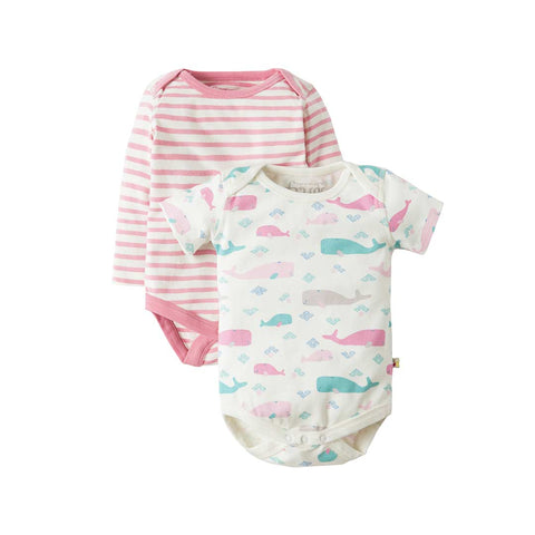 Frugi Teeny Bodies - Little Whale - 2 Pack
