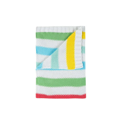 Frugi Welcome Home Blanket - Rainbow Stripe-Blankets- Natural Baby Shower