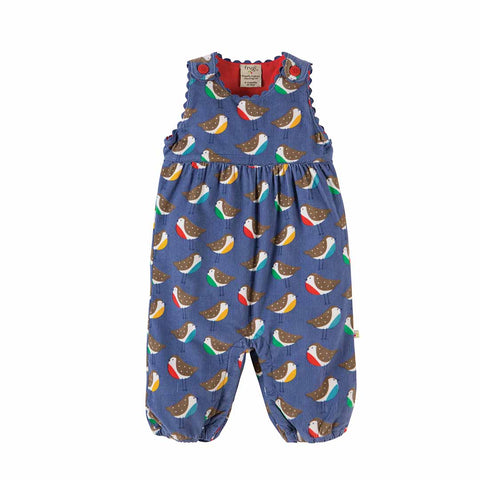 Frugi Willow Cord Dungarees - Winter Robins