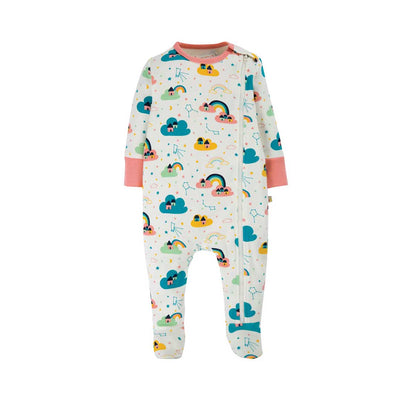 Frugi Zipped Babygrow - Above The Stars-Rompers- Natural Baby Shower