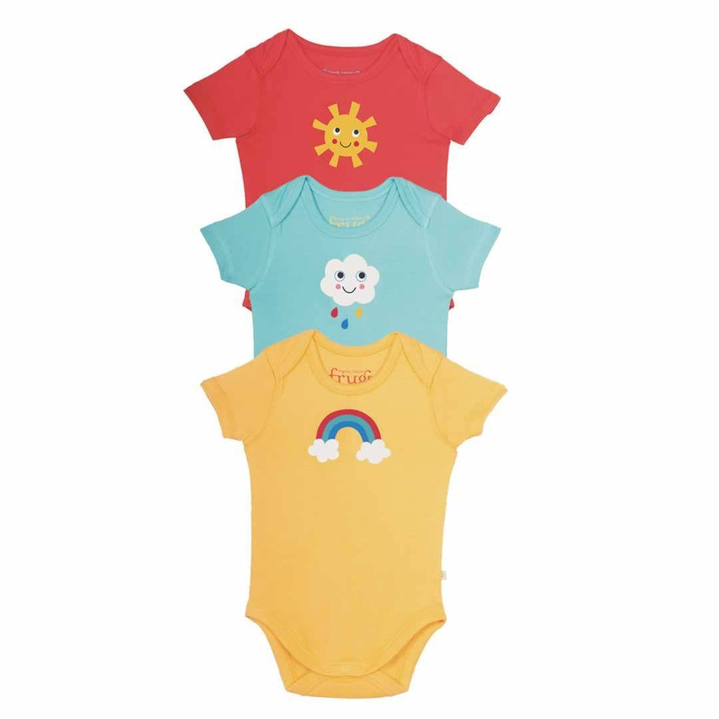 Frugi Bodies Sunny Days 3 Pack