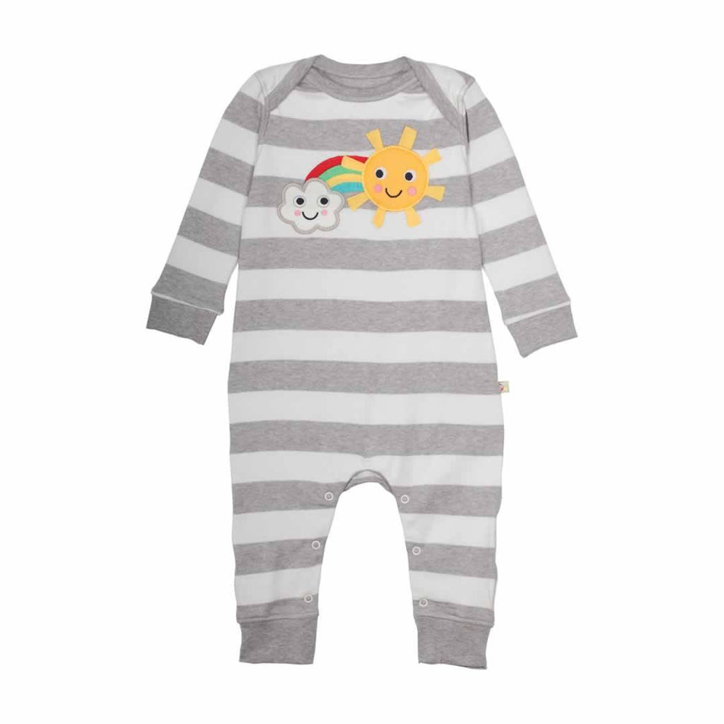 Frugi Bubbly Baby Gift Set Grey Marl Stripe