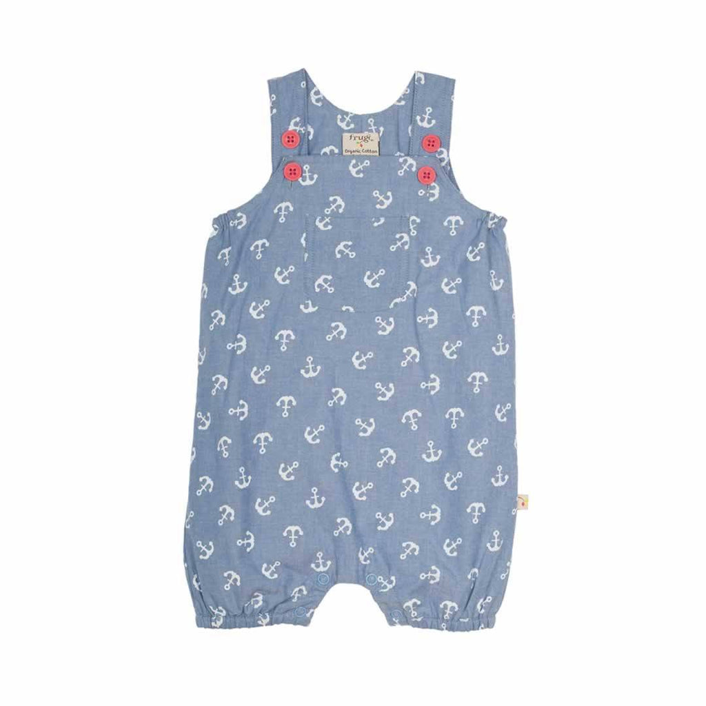 Frugi Cadgwith Dungarees in Anchors Away