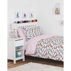 Frugi Cot Bed Set Rainbow Fish