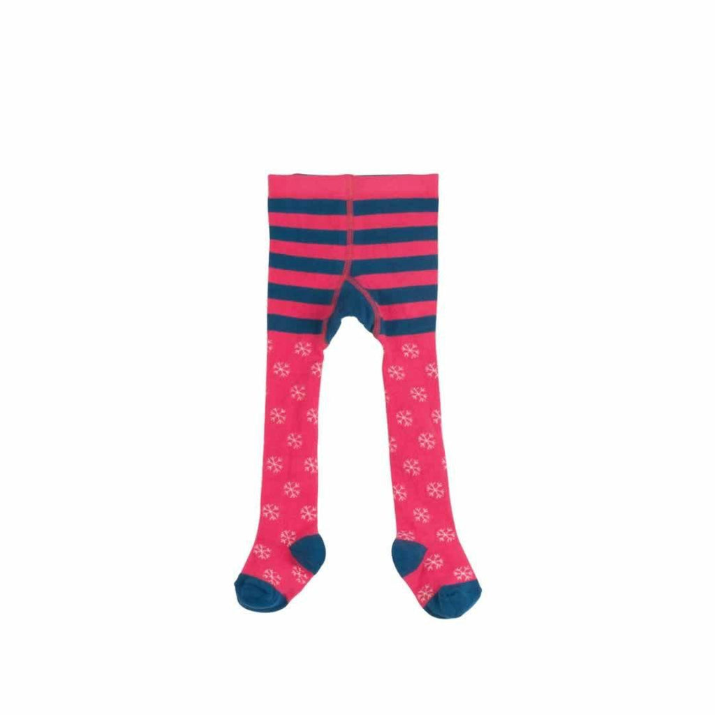 Frugi Crawl Away Tights Raspberry Cat