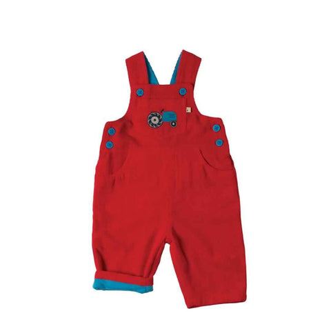 Frugi Dylan Dungarees in Tomato/Tractor