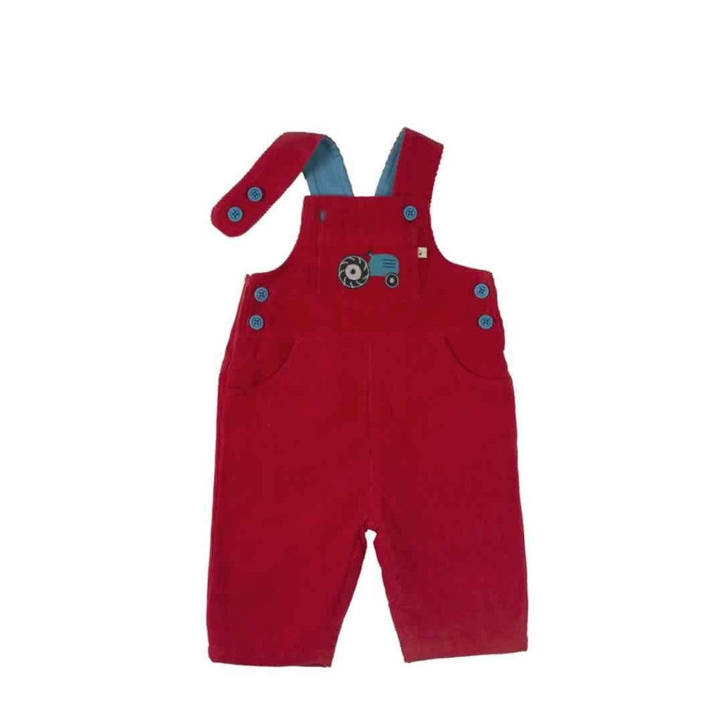 Frugi Dylan Dungarees Tomato/Tractor