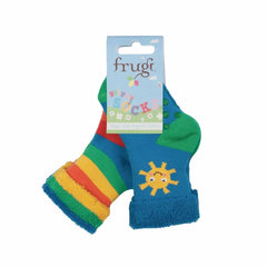 Frugi Grippy Socks Sunshine 2 Pack