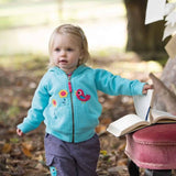 Frugi Hayle Hoody - Cornish Sea/Birdies Lifestyle
