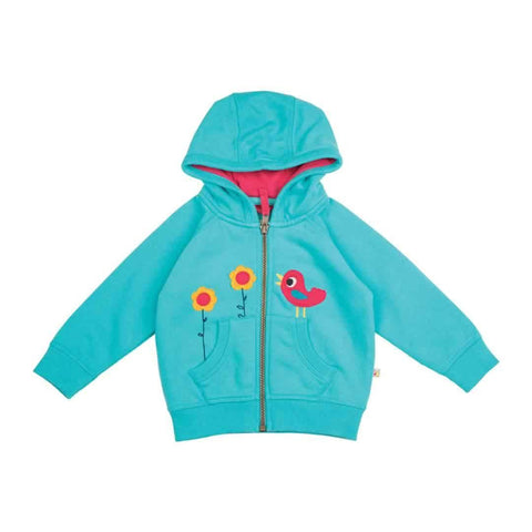 Frugi Hayle Hoody in Cornish Sea/Birdies