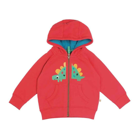 Frugi Hayle Hoody in Tomato/Dino