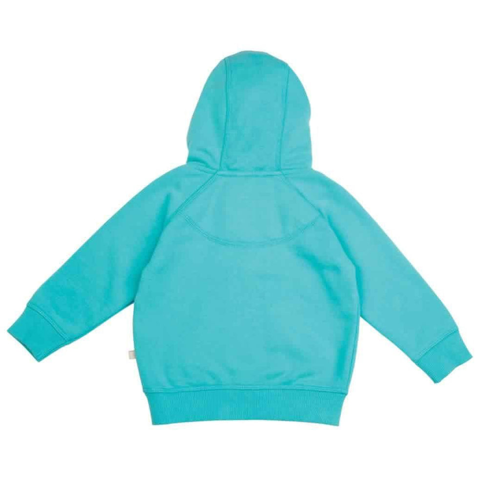 Frugi Hayle Hoody - Cornish Sea/Birdies - Hoodies & Cardigans - Natural Baby Shower
