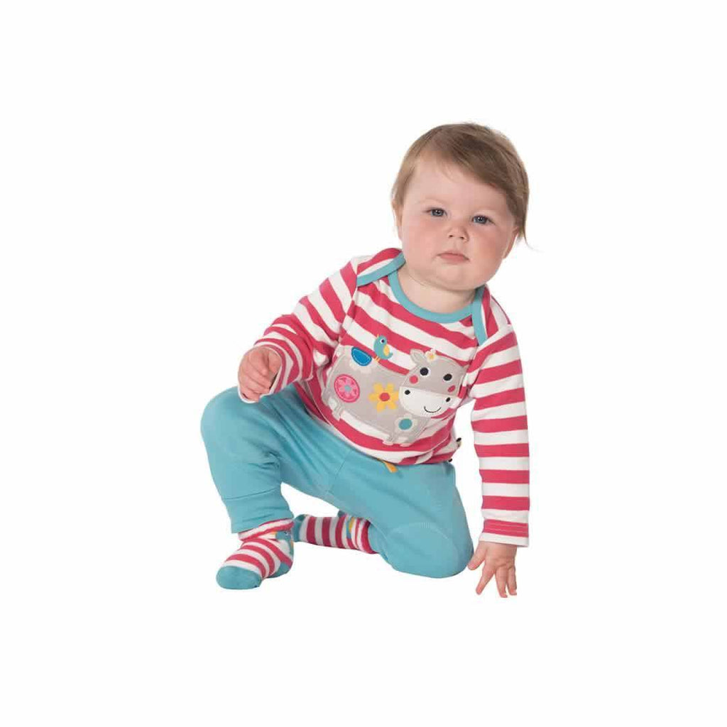 Frugi Kneepatch Crawlers - Aqua Lifestyle