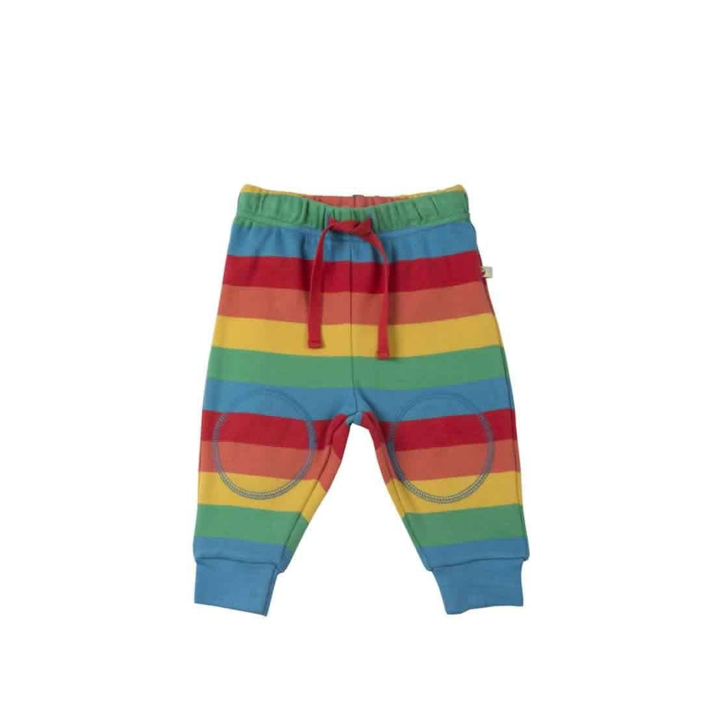 Frugi Kneepatch Crawlers in Happy Rainbow