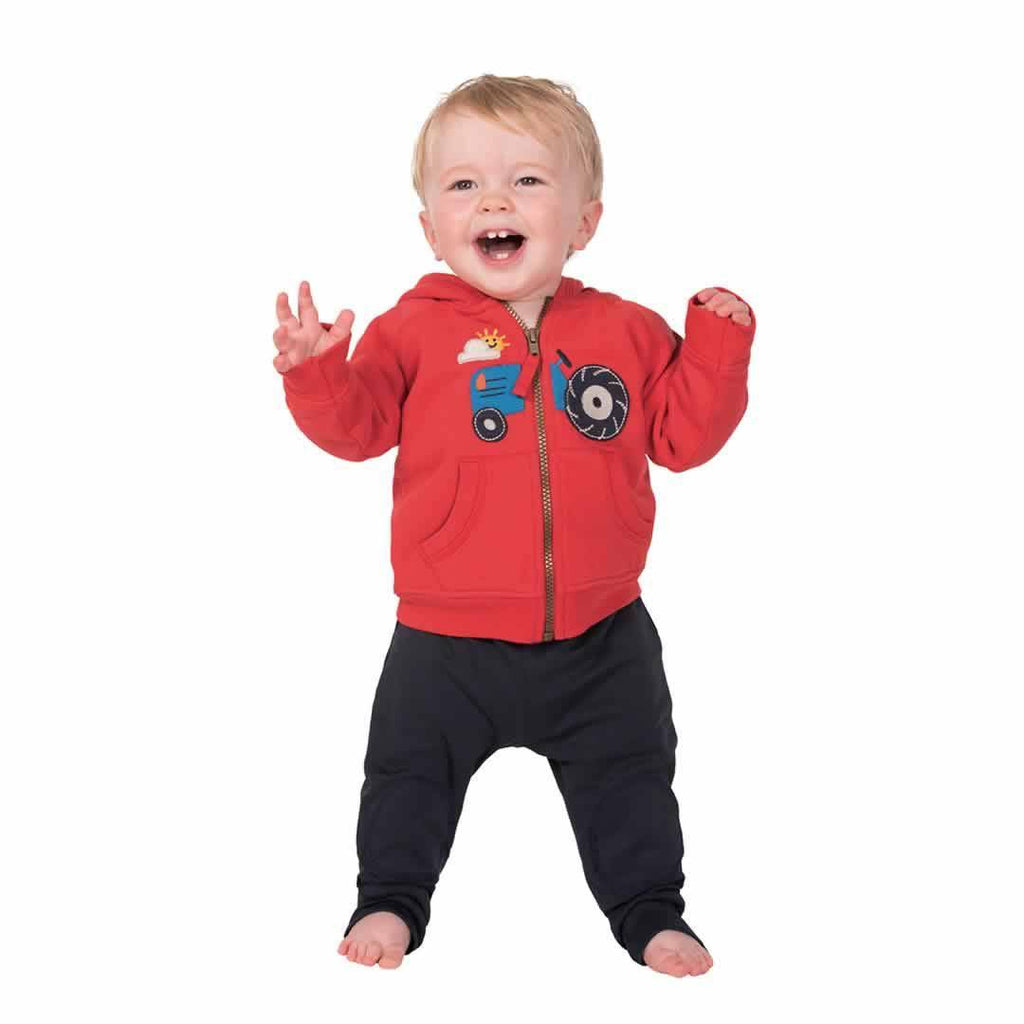 Frugi Kneepatch Crawlers - Navy Lifestyle