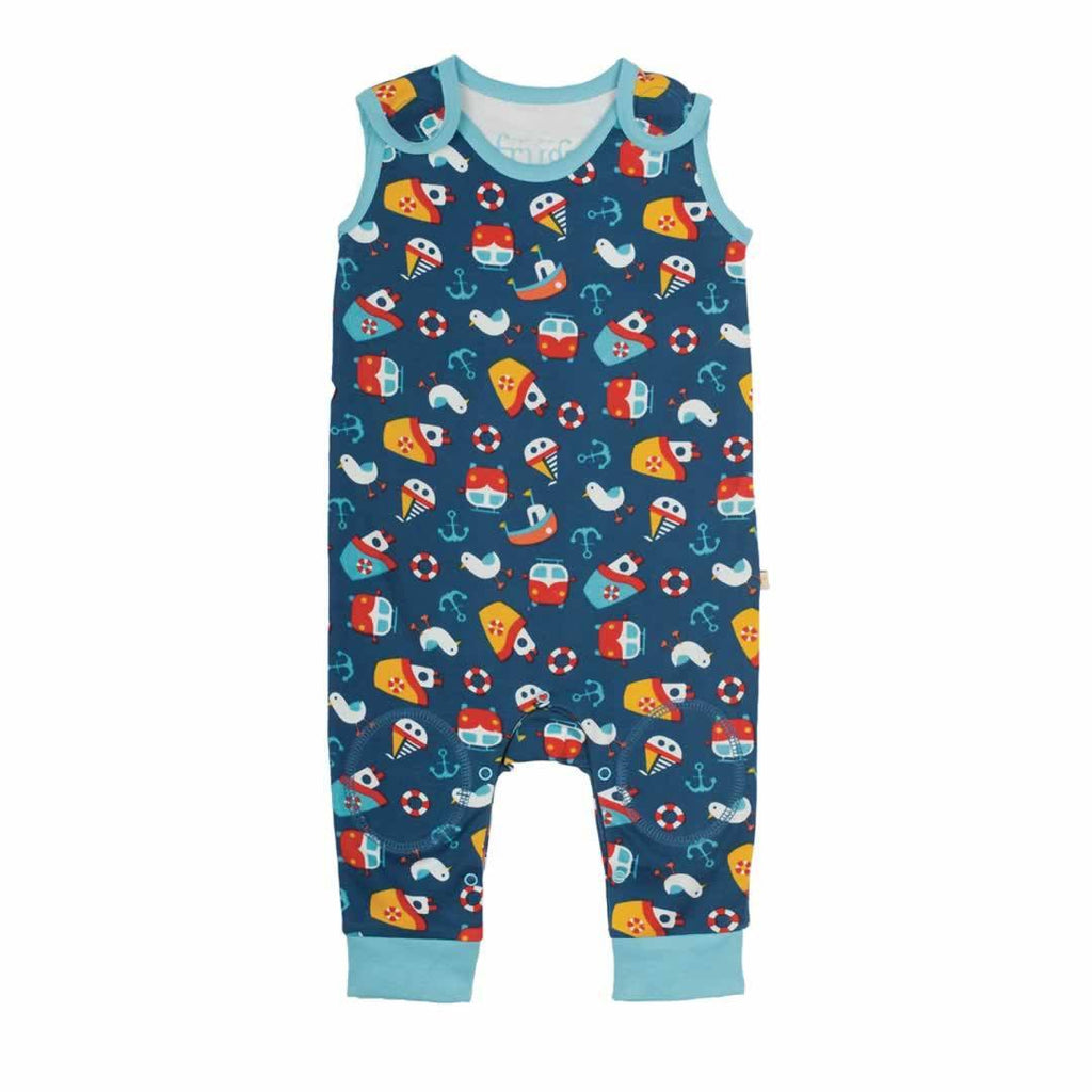 Frugi Kneepatch Dungarees Day At The Seaside
