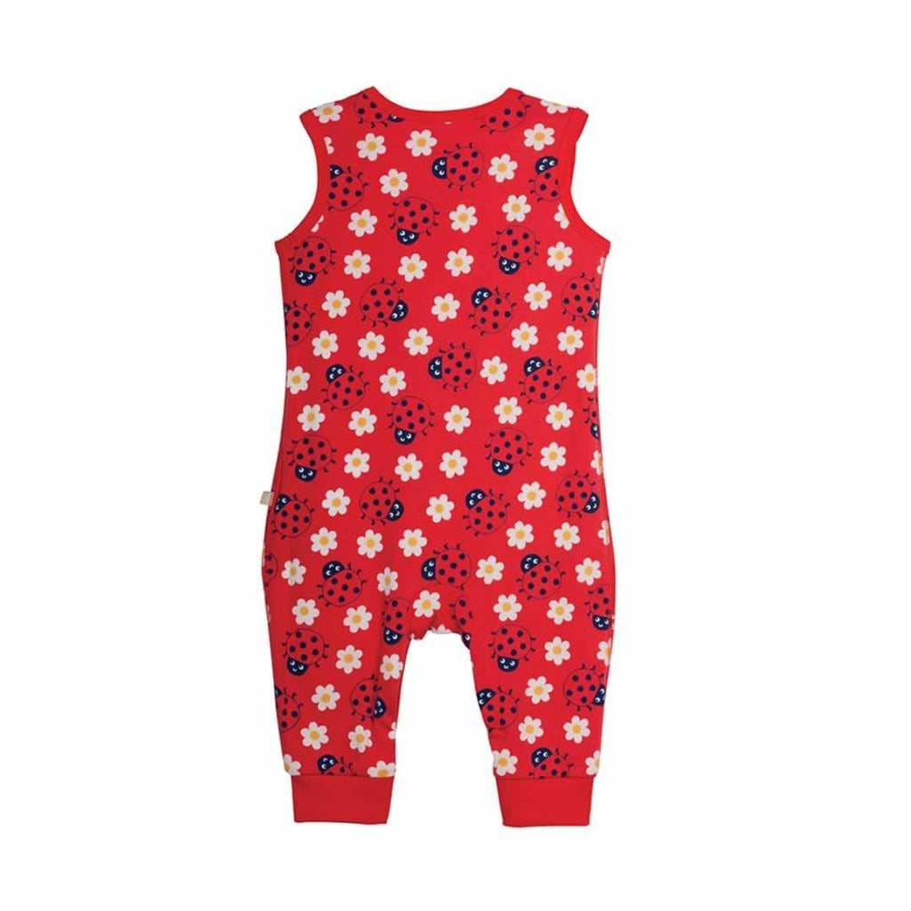 Frugi Kneepatch Dungarees in Ladybird/Party
