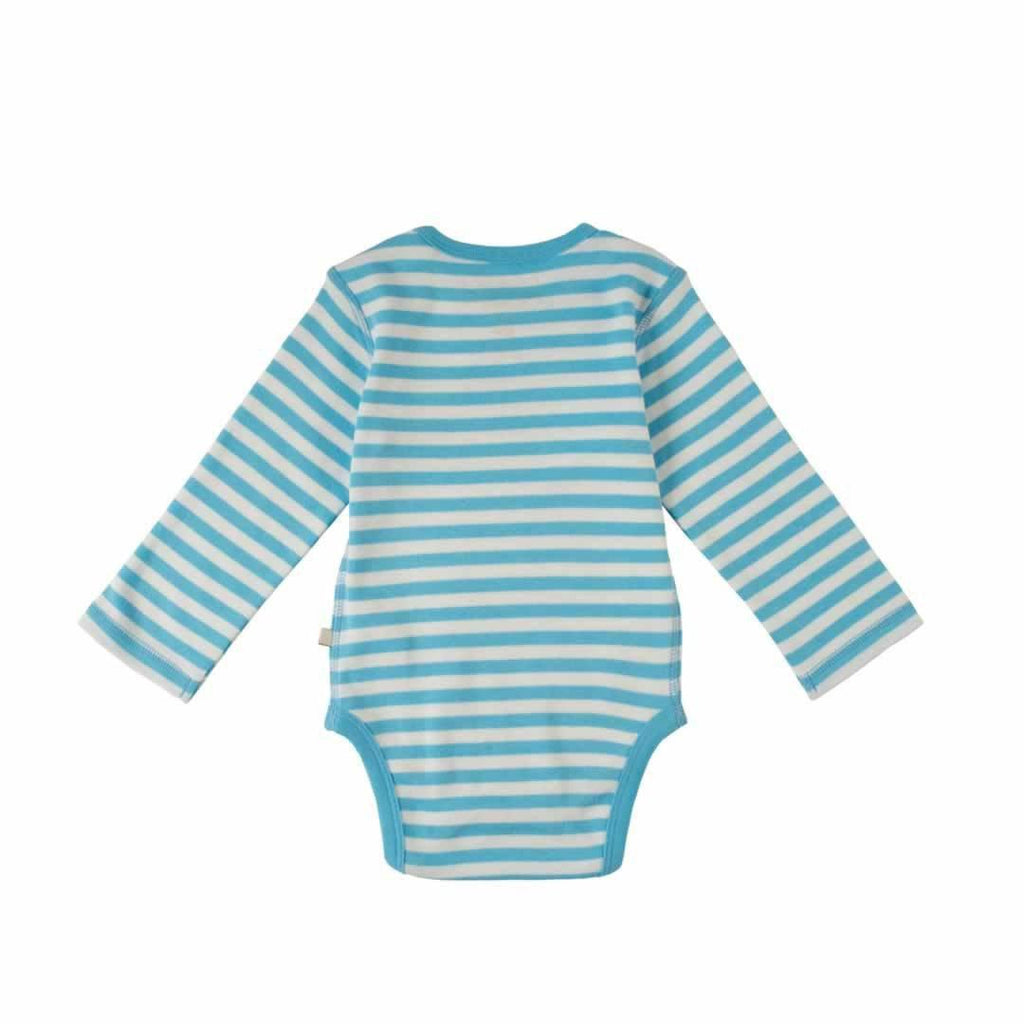 Frugi Lerryn Body Soft Blue Fine Stripe/Bus