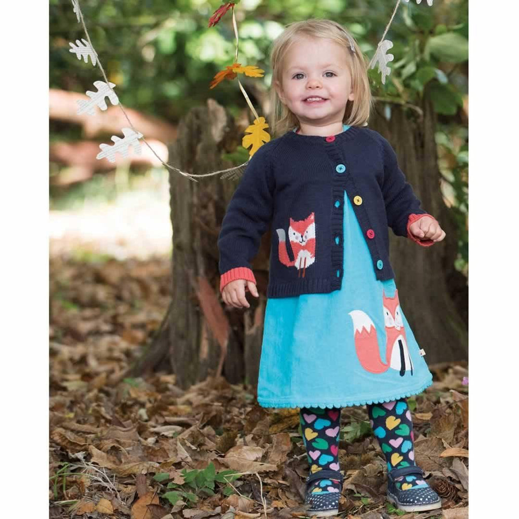 Frugi Lily Cord Dress - Cornish Sea/Fox Lifestyle