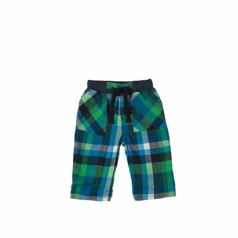 Frugi Little Checked Snugs - Field Multicheck-Pants- Natural Baby Shower