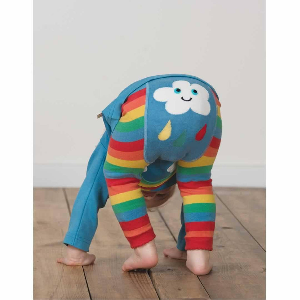 Frugi Little Knitted Leggings - Rainbow Clouds Lifestyle
