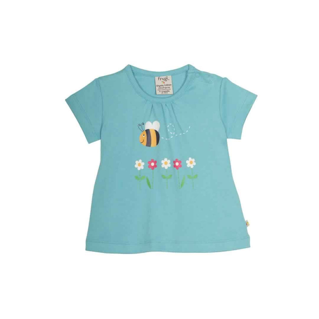 Frugi Little Primrose PJ's -Aqua/Bee Top