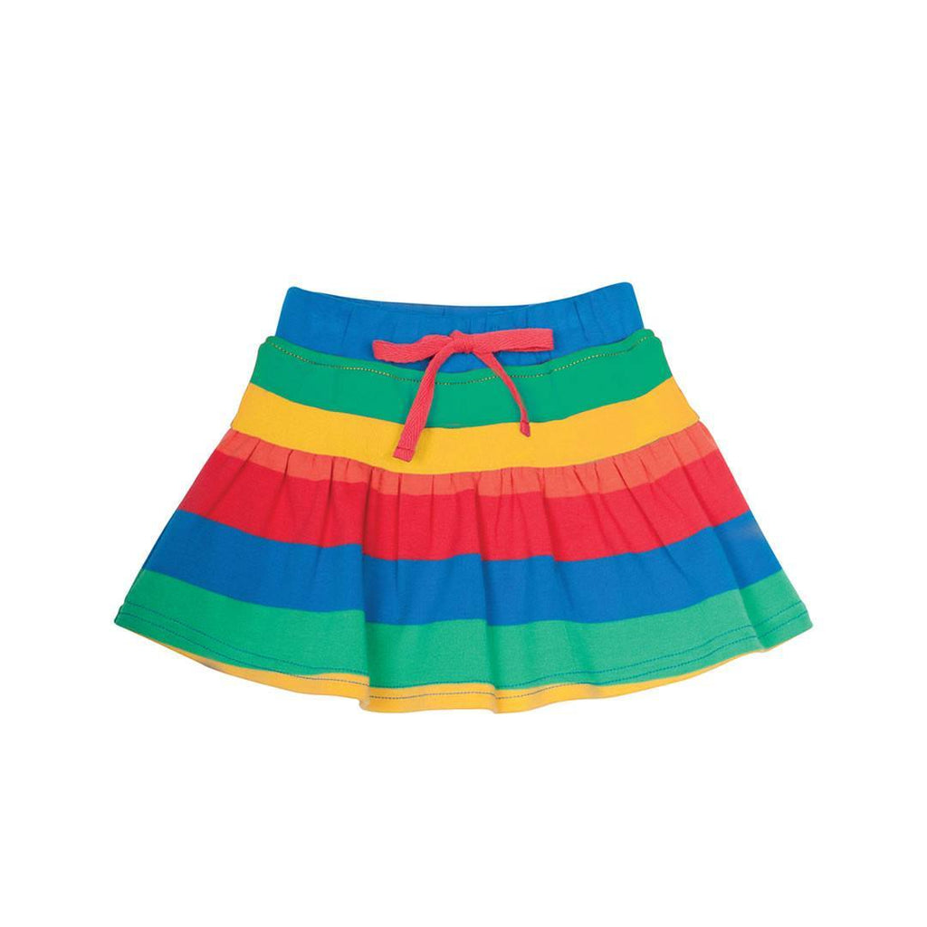 Frugi Little Skort Rainbow Stripe