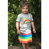 Frugi Little Skort Rainbow Stripe Lifestyle