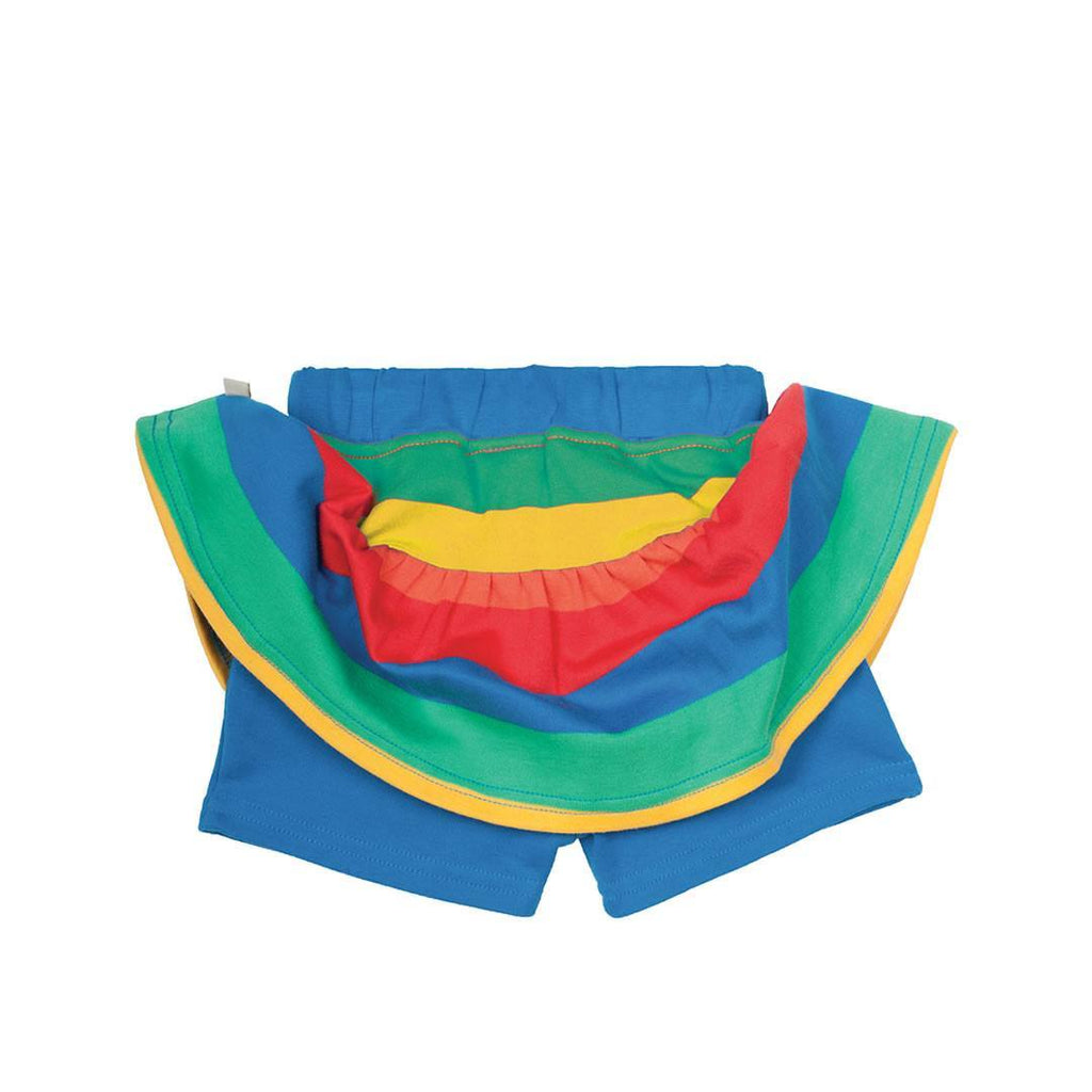 Rainbow Stripe Frugi Little Skort