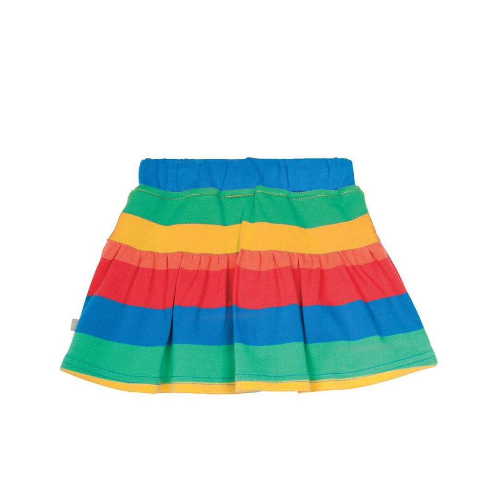Frugi Little Skort in Rainbow Stripe
