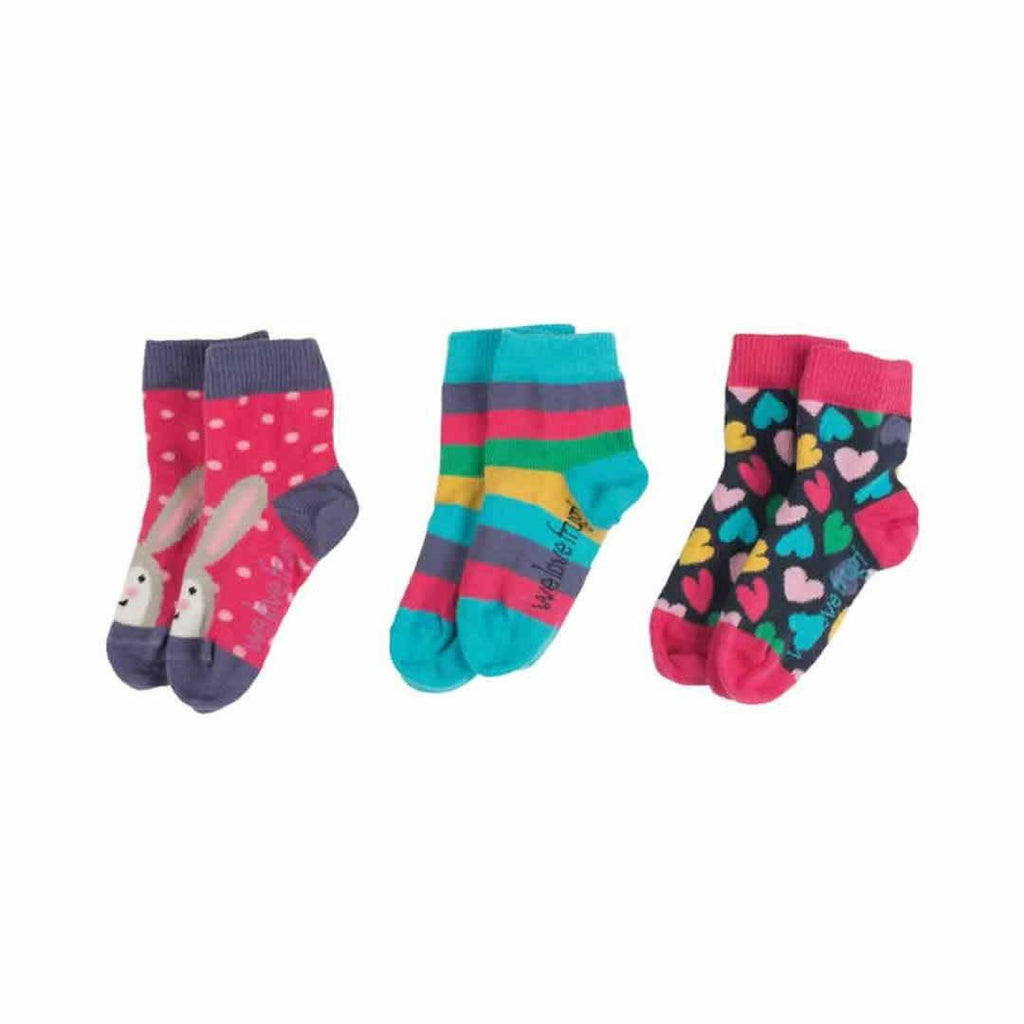 Frugi Little Socks Hearts - 3 Pack