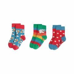 Frugi Little Socks Rainbow - 3 Pack