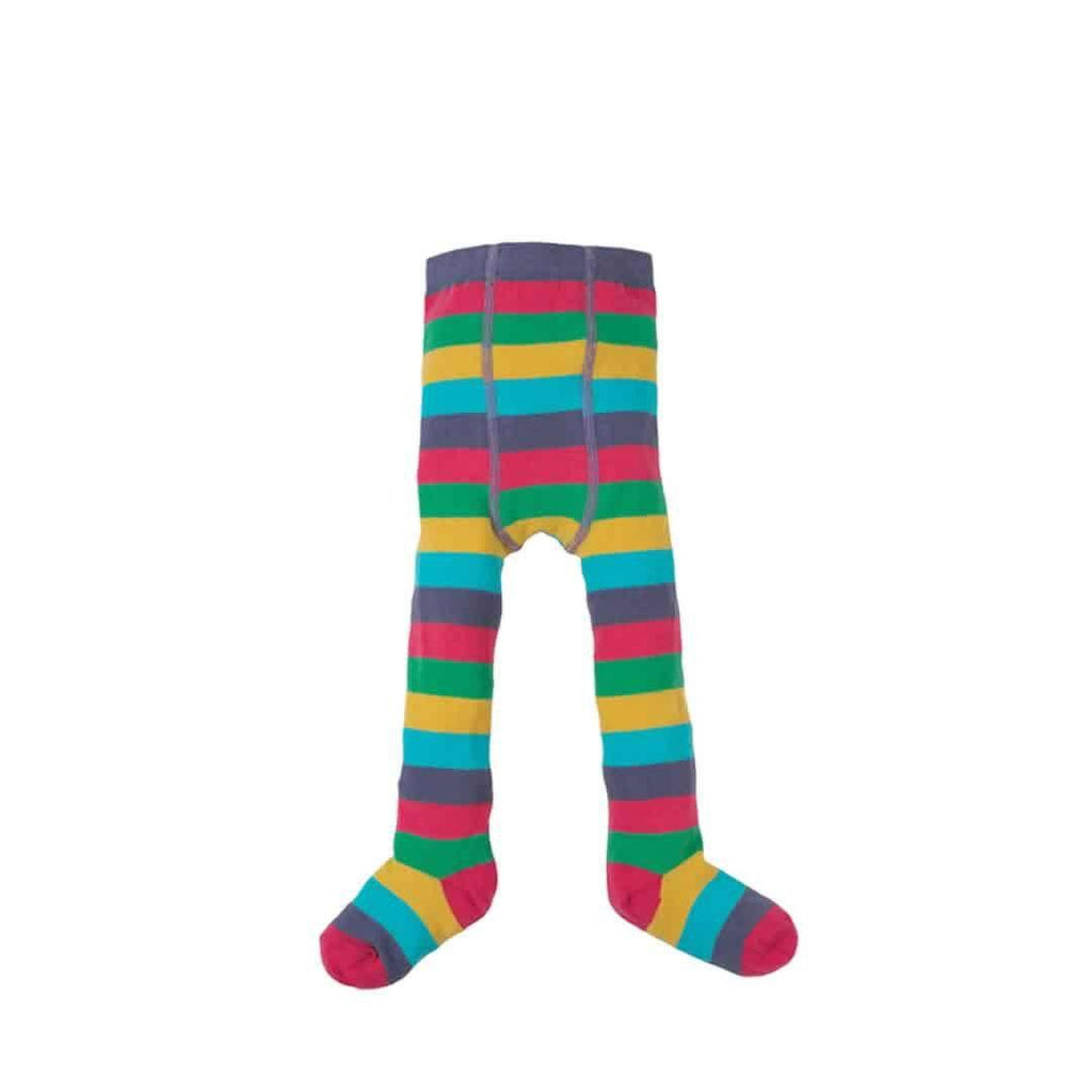 Frugi Little Zoe Tights in Autumn Rainbow