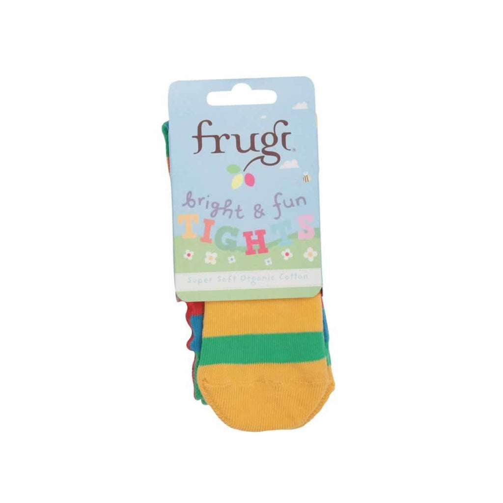 Frugi Little Zoe Tights Rainbow Stripe