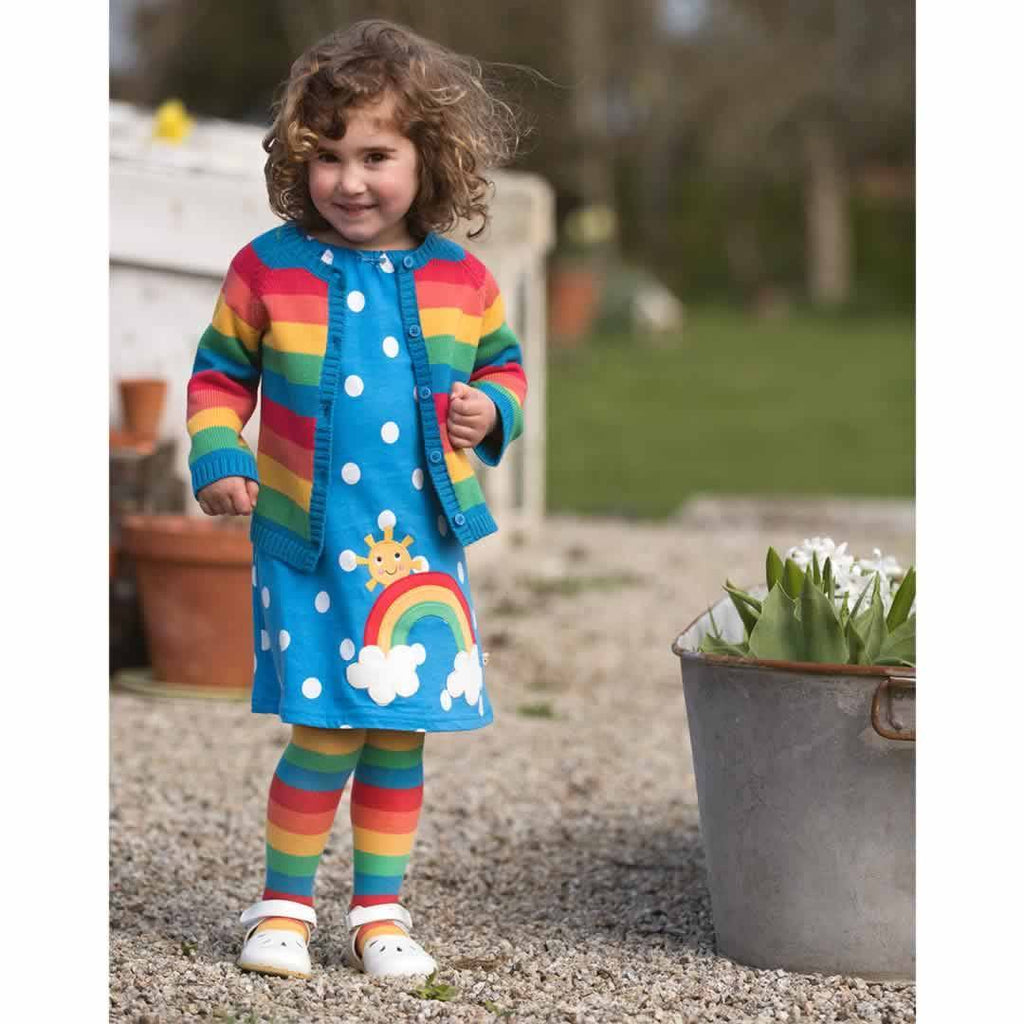 Frugi Little Zoe Tights - Rainbow Stripe Lifestyle