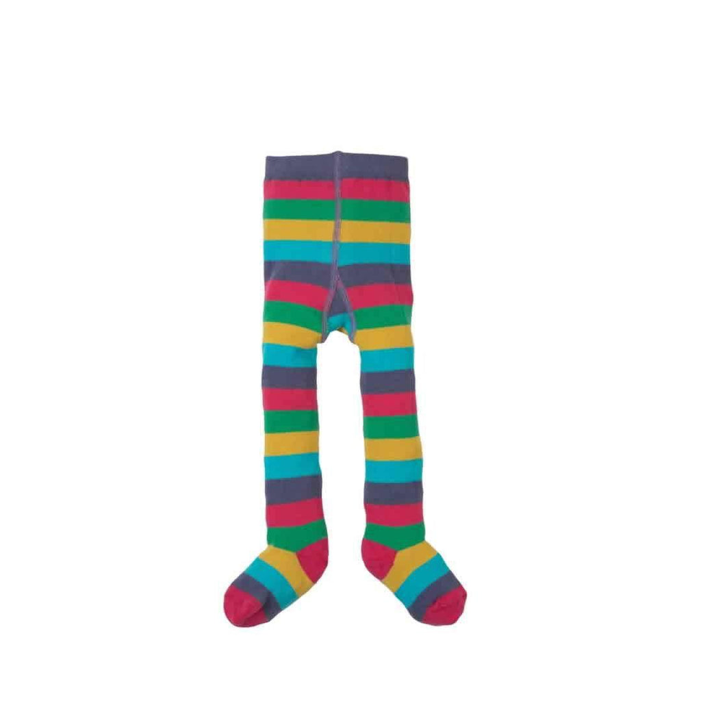 Frugi Little Zoe Tights Autumn Rainbow