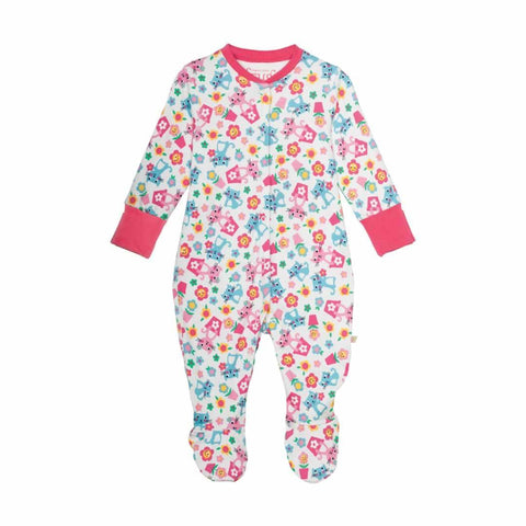 Frugi Lovely Babygrow Cat Friends