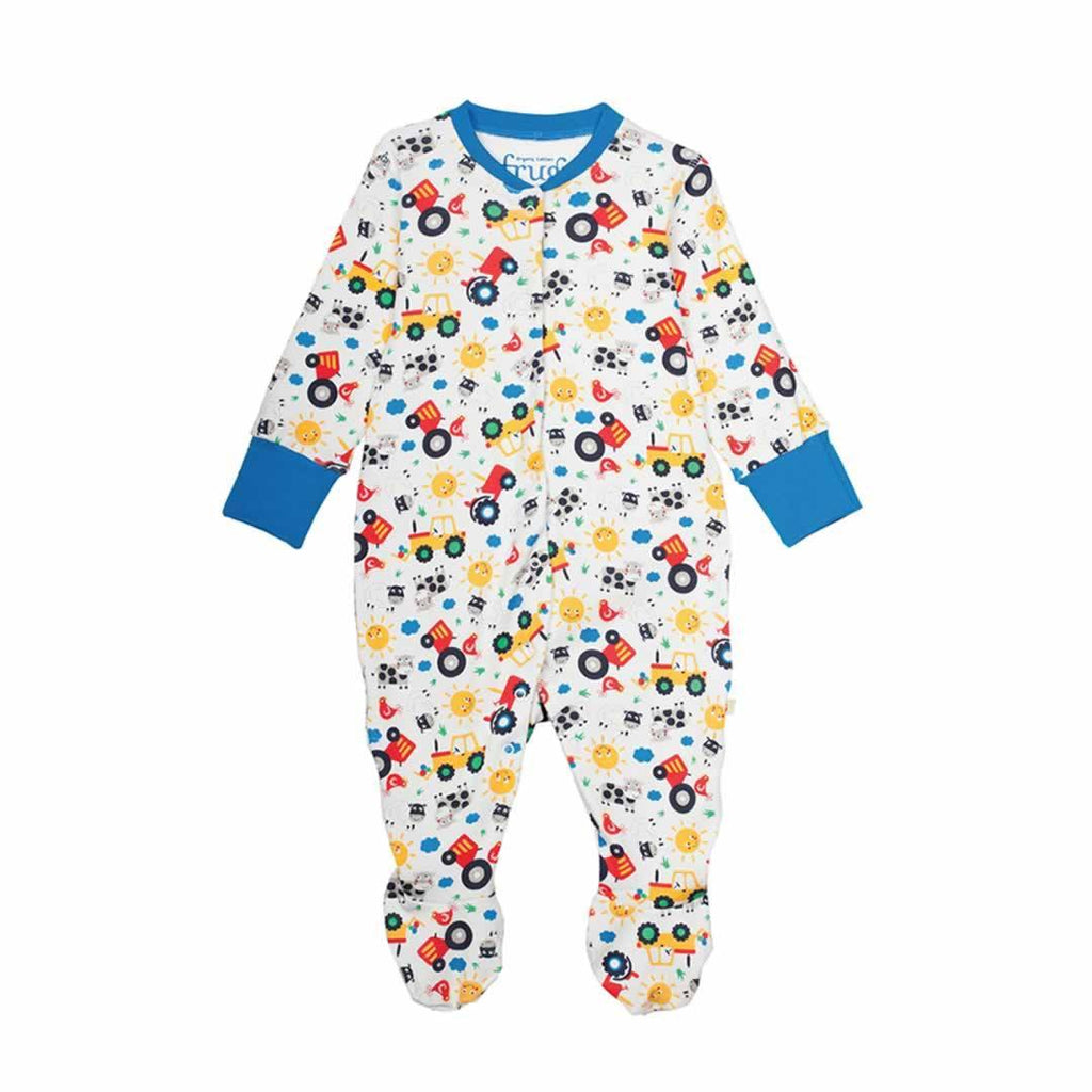 Frugi Lovely Babygrow in Farm Friends
