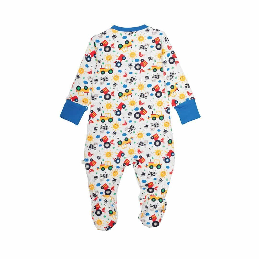 Frugi Lovely Babygrow Farm Friends Back