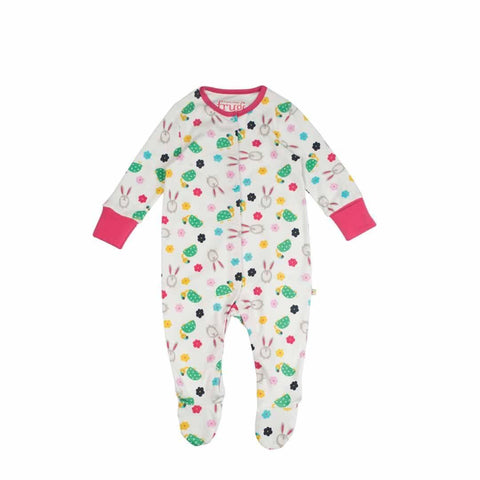 Frugi Lovely Babygrow in Hare and Tortoise