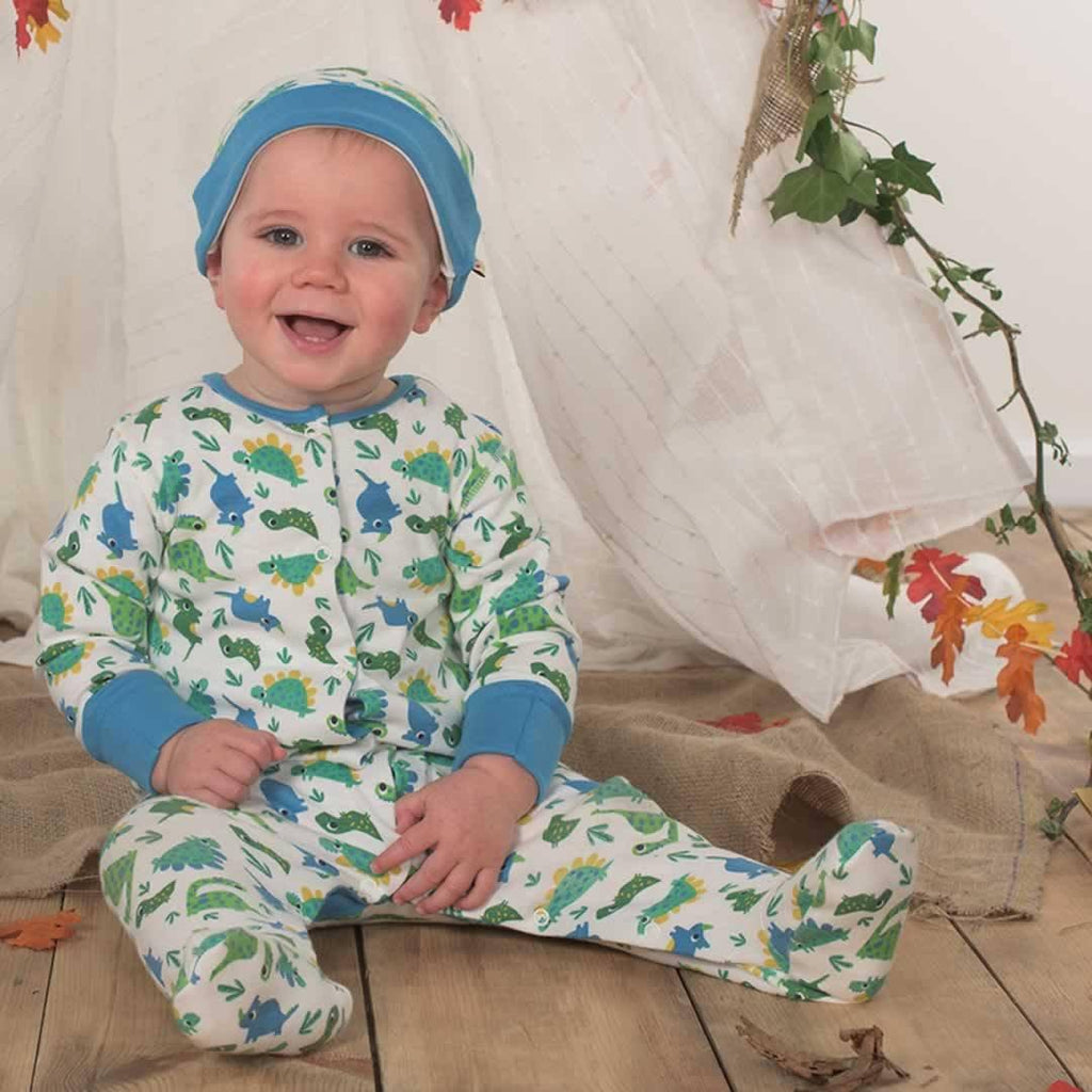 Frugi Lovely Babygrow - Multi Dinos Lifestyle