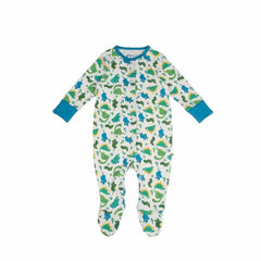 Frugi Lovely Babygrow in Multi Dinos