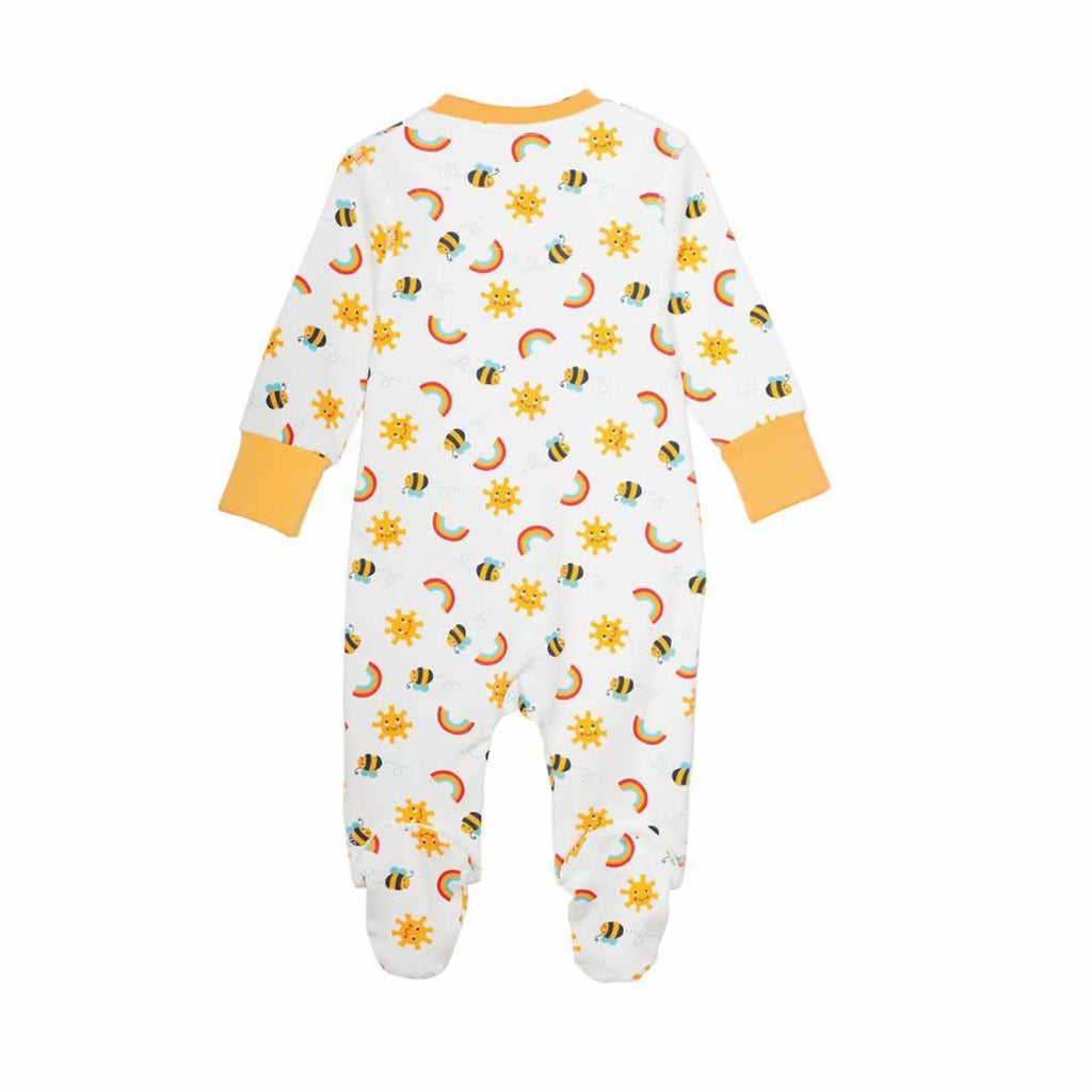 Frugi Lovely Babygrow Sunny Buzzy Bee 2 Pack Back